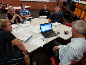 Mark O'Brien with a group of teachers from the Geraldton greater region